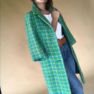 60s plaid coat • size small